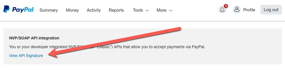 PayPal API Selection