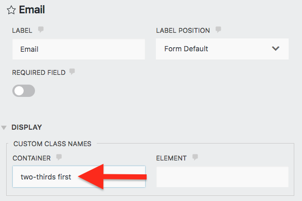 wordpress signup form styling field container inside builder