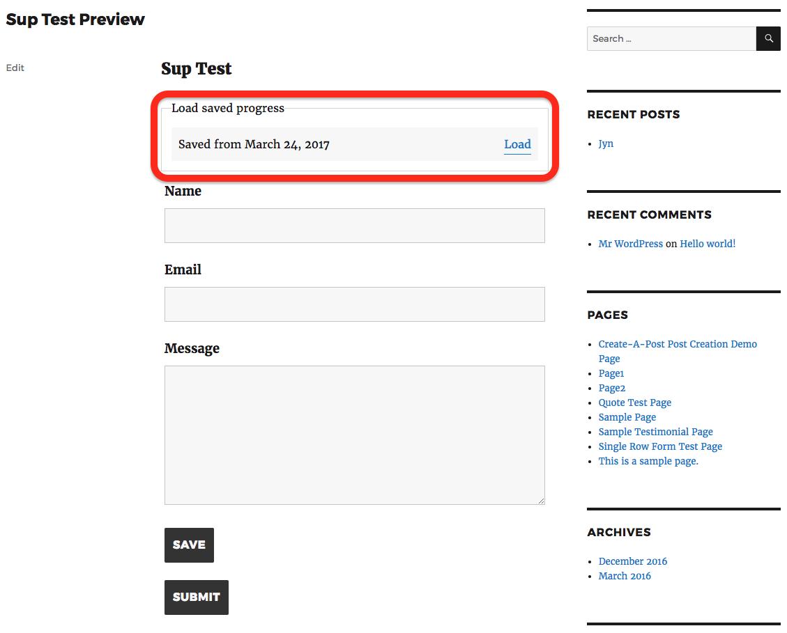 save user progress load save table
