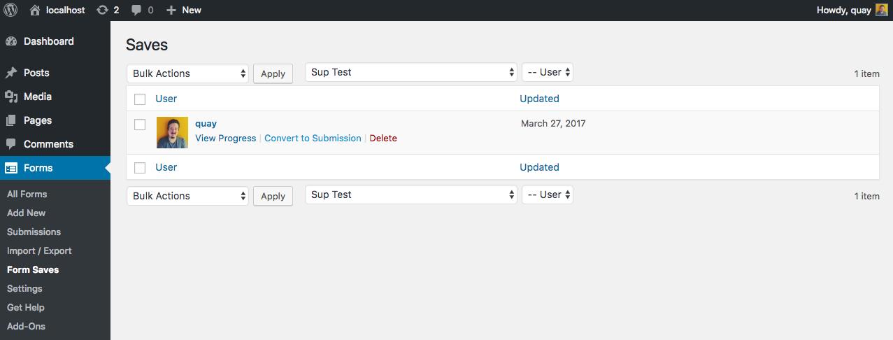 save user progress saved state list