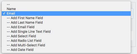unique field restriction options