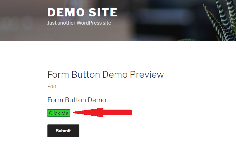 add a button to a wordpress form - it's a button!
