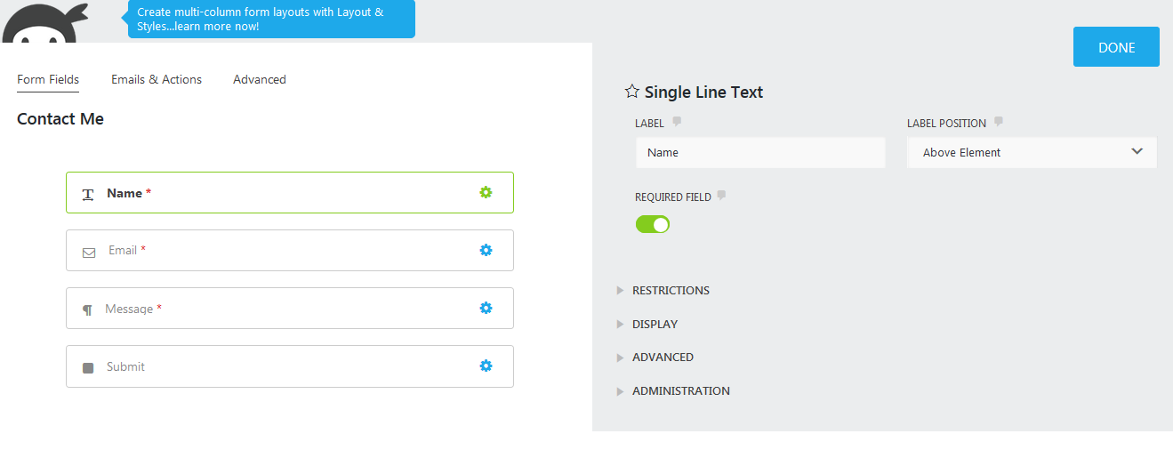 contact form default fields; easy contact forms for WordPress!