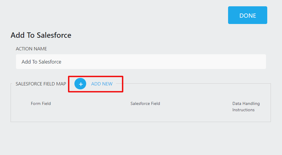 add new mapping fields from ninja forms to salesforce