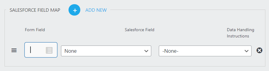 new row in salesforce mapping