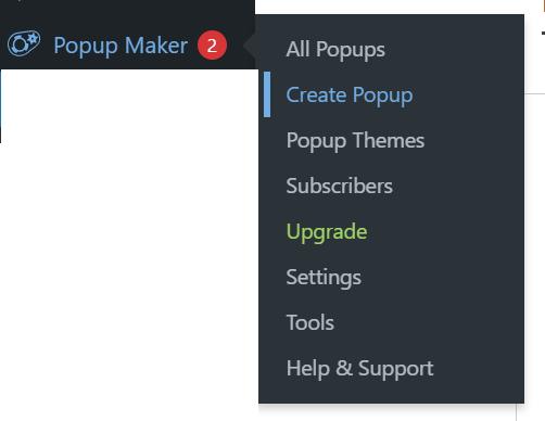 create wordpress popup in popup maker